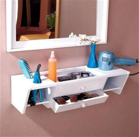 ready  hang wooden bathroom storage organizer vanity