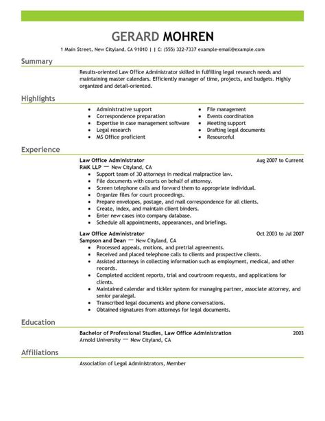 Resume For Office by Exles Of Resumes For Office Talktomartyb