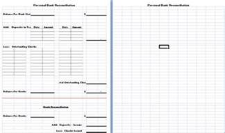 bank reconciliation template excel free business bank reconciliation template excel