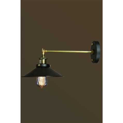 home depot wall lights edison dorothy collection 1 light black indoor wall sconce