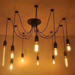 Diy Light Bulb Chandelier Aliexpress Buy Diy Edison Bulb Pendant Lights E27
