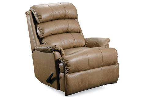 white recliner rocker taupe leather rocker recliner at gardner white