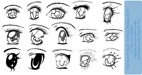 Various Female Anime Manga Eyes by Elythe on DeviantArt