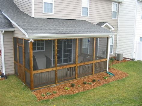 How To Build A Screened Patio Enclosure by 25 Best Ideas About Small Back Porches On