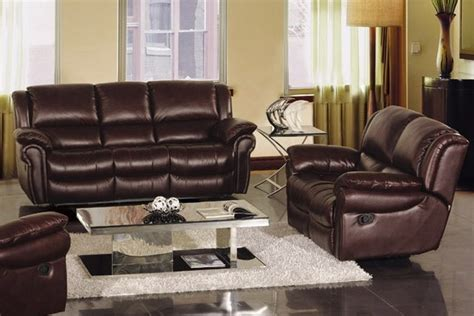 Bianca Italian Leather Reclining Sofa Set Modern Living Room Furniture Los Angeles