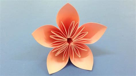Make Paper Flower Origami - how to make a kusudama paper flower easy origami