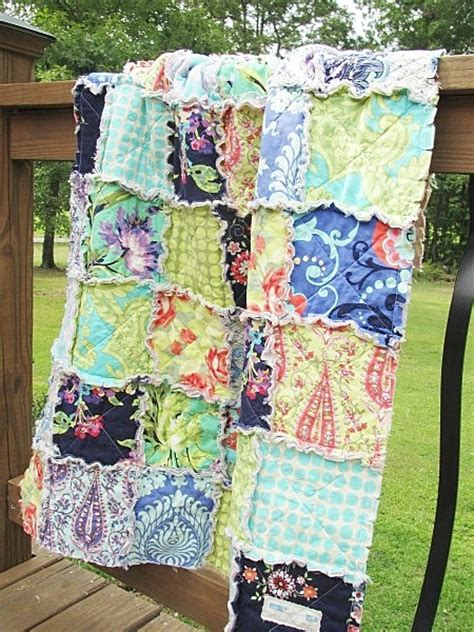 Crib Size Rag Quilt Pattern by Southern Charm Quilts