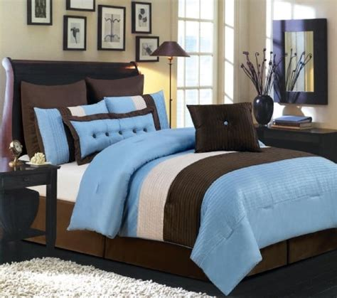 cheap price valentino 8 piece oversized comforter set blue
