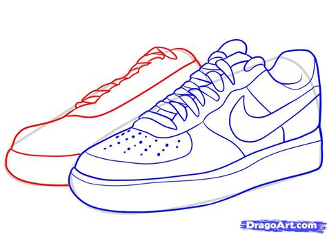 Drawings Of Shoes Easy