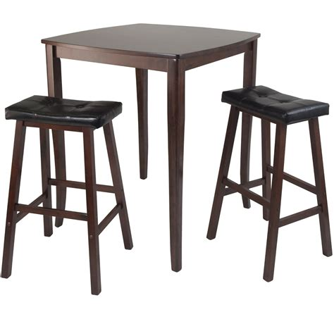 Saddle Bar Stools Set Of 3 by High Table With Cushion Saddle Stools Set Of 3 In Bar