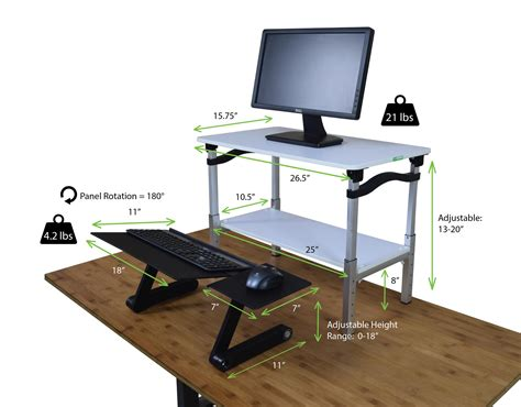 affordable sit stand desk lift standing desk conversion kit portable