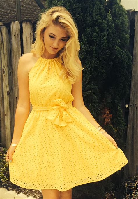 Sun Dress Ori Naura enhance with eyelet inspirational tips for how to sew eyelet summer clothes and yellow dress