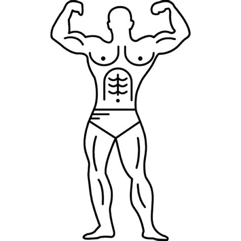 Outline Of A Bodybuilder muscular outline of a bodybuilder flexing icons free
