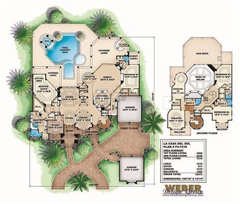 casa del sol plan mediterranean house plan 2 story tuscan mansion floor plan