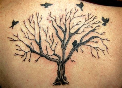 tree and bird tattoo bird and tree tattoos