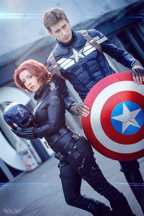 Kaos Black Widow black widow captain america marvel by