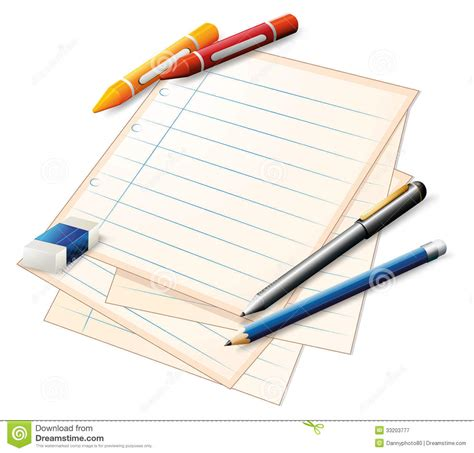 crayons that only write on paper a paper with crayons and pencils royalty free stock