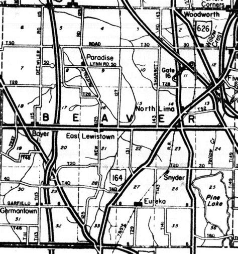 Mahoning County Search Mahoning County Ohgenweb Project Mahoning County Township Map