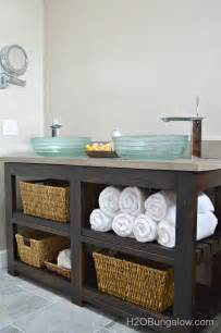 Sink Vanity With Open Shelf Diy Open Shelf Vanity With Free Plans