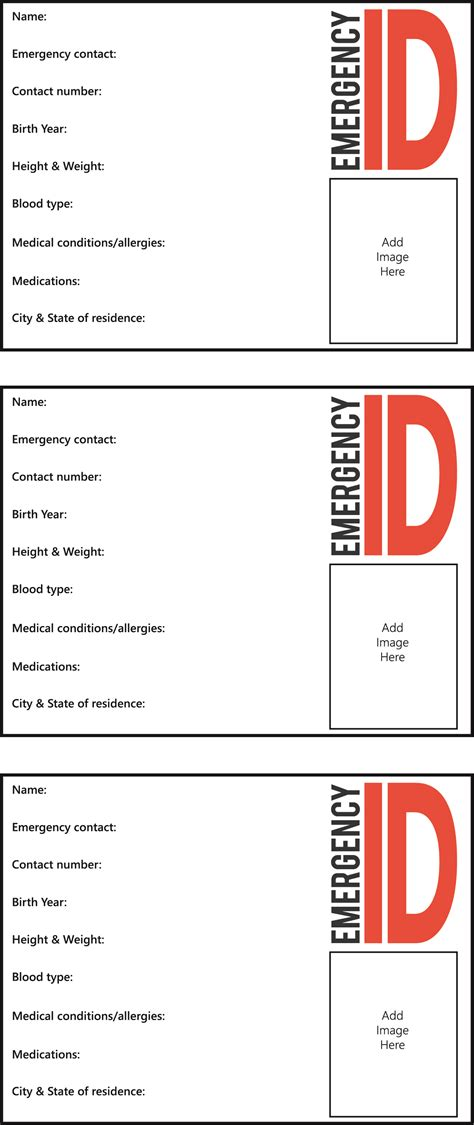 emergency id card template 25 images of identification card template kpopped