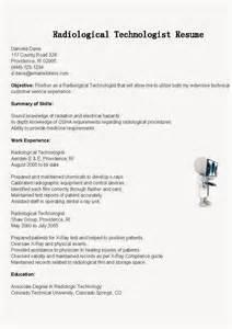 resume samples radiological technologist resume sample