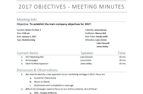 Meeting Minutes Sle Template by Meeting Wizard Meeting Minutes Format 11 Corporate