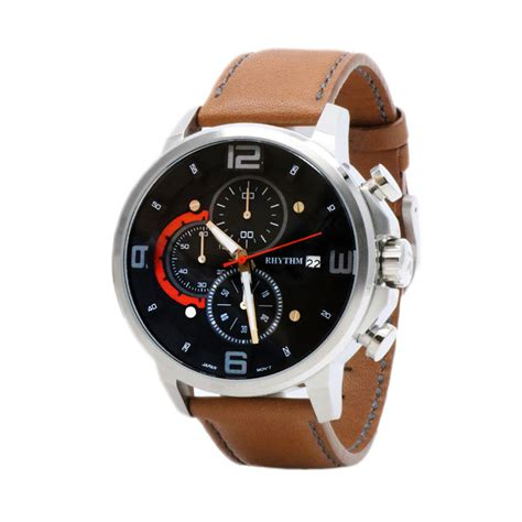 Rhythm Fi1608l 02 Leather Black harga rhythm fi1607l 02 jam tangan pria leather