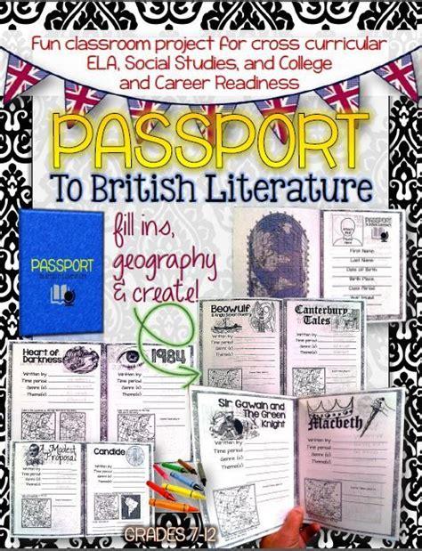 major themes in british literature passport to british literature grades 7 12 editable