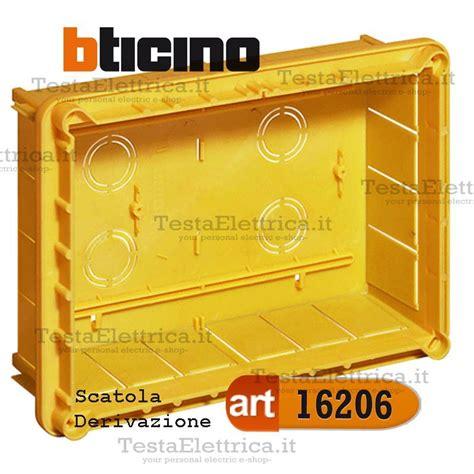 cassette elettriche da incasso scatola 16206 incasso derivazione con coperchio 22x15 cbticino