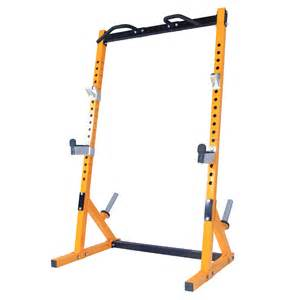 powertec workbench half rack yellow