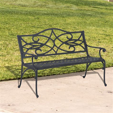 garden bench clearance outsunny 49 quot decorative outdoor garden bench clearance