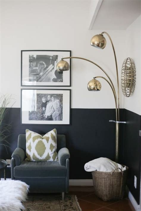 best 25 half painted walls ideas on modern wall paint black and white interior and