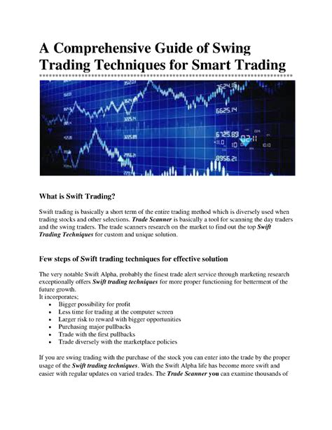 swing trader guide a comprehensive guide of swing trading techniques for