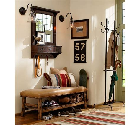 pottery barn entryway bench welcome your guests with an impeccably organized entryway