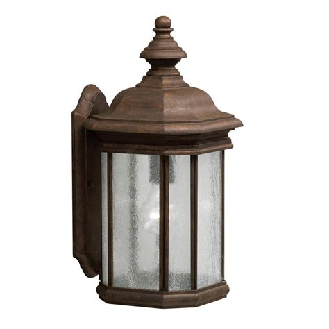 Shop Kichler Kirkwood 17 In H Tannery Bronze Outdoor Wall Kichler Outdoor Lights