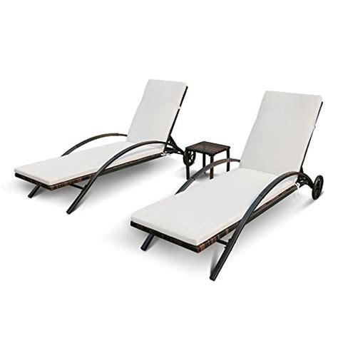 iron chaise lounge patio furniture ikayaa 3pcs adjustable patio rattan wicker chaise lounge