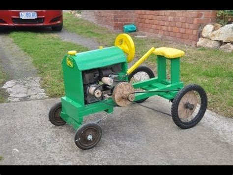 home built tractor plans homemade wooden tractor youtube