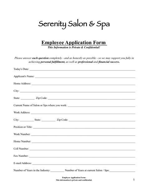 Salon Application Template 16 web form template clip images web registration