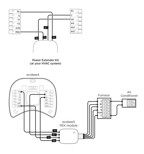 ecobee3 wiring diagram ecobee wiring diagram for a heat