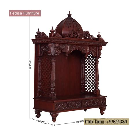 revofurnish teak wood pooja mandir 029 available at