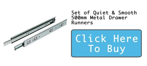 Wickes Drawer Runners by Set Of Smooth 500mm Metal Drawer Runners Drawer