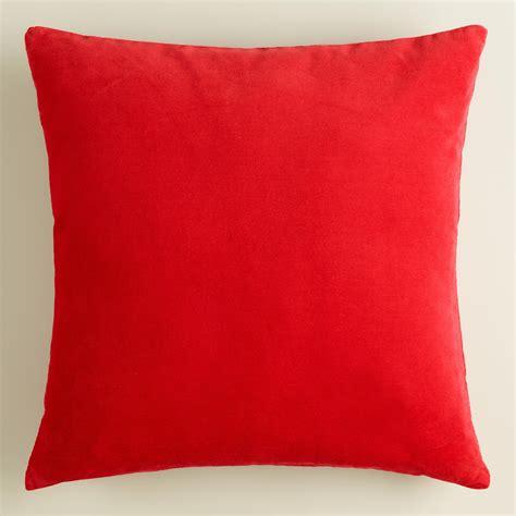 poppy velvet throw pillow world market