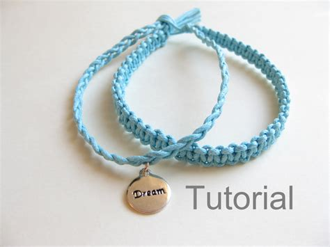 Easy Macrame Bracelet Patterns - knotted bracelet beginners macrame pattern tutorial pdf two in