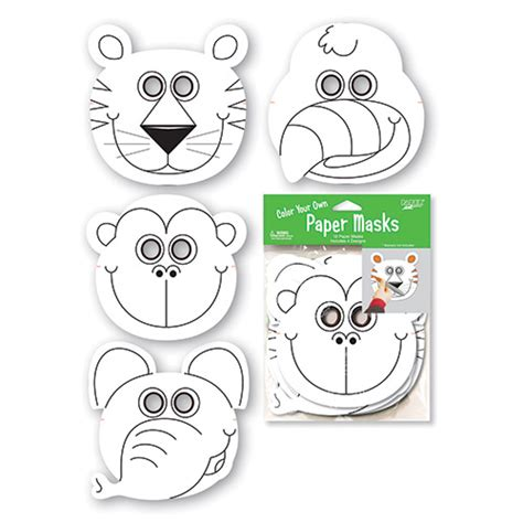free coloring pages of jungle animal masks