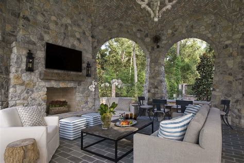 covered patio with fireplace covered patio with fireplace transitional deck patio
