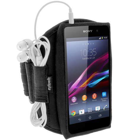 black running sports armband for sony xperia m4 aqua fitness cover ebay