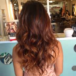 auburn balayage ombre hair color ombre brown hairs