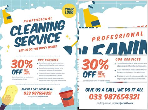 Cleaning Service Flyer Template V2 Flyerheroes Cleaning Service Flyer Template