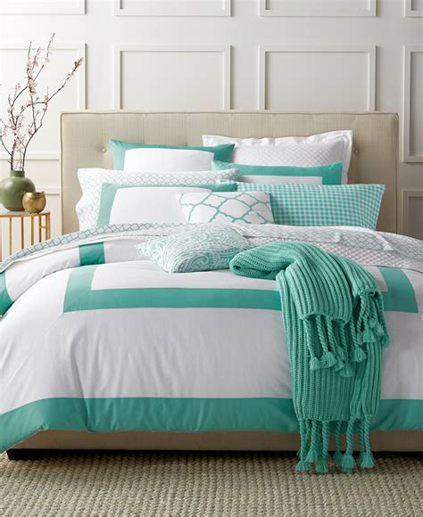 Charter Club Duvet Cover Colorblock Teal Bedding Collection Everything Turquoise