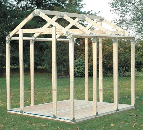 Storage Shed Framing Kit by Diy Outdoor Storage Shed Connecter Kit With Peak Roof